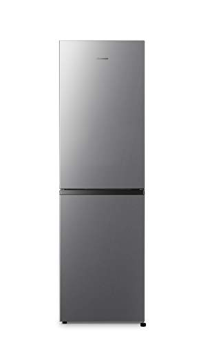 Hisense RB327N4AD2 Kühl-Gefrier-Kombination/A++/Total No Frost/Multi Air Flow/55cm Breite/Türanschlag wechselbar 182,4 cm hoch und 55 cm breit Edelstahl