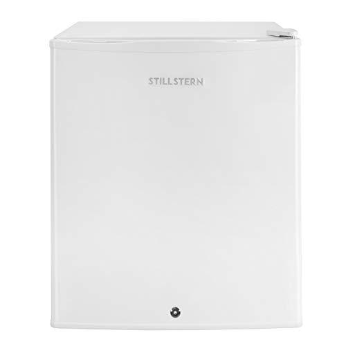 Stillstern Mini-Kühlschrank mit Schloss E (54L) und Abtauautomatik, LED-Innenbeleuchtung, Frostfach, Eierablage, Türablagen, Leise, Kühlschrank