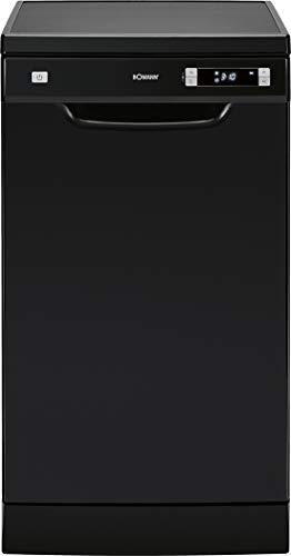 Bomann GSP 863 Geschirrspüler/Stand - Unterbau / 45 cm / 211 kWh / 10 Maßgedecke/ 6 Programme/schwarz