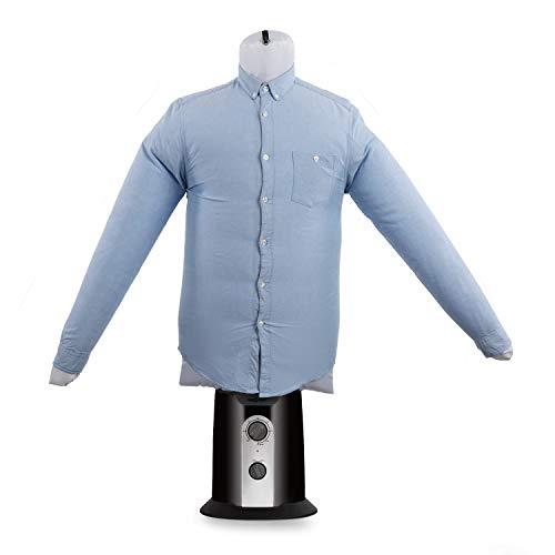 oneConcept ShirtButler - automatischer Hemden-Trockner, Hemden-Bügler, Bügelpuppe mit Heizgebläse, 2-in-1, Easy-Dry, Multi-Size: S-L, bis 65 °C, schwarz