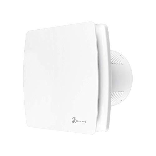 Badlüfter mit Feuchtigkeitssensor 100 mm WC Lüfter Badlüfter mit Nachlauf Und Rückstauklappe 100 M³/h 32 db Ipx4 Weiss