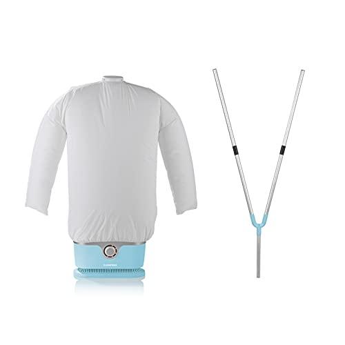 CLEANmaxx automatischer Hemdenbügler inkl. Hosenaufsatz   Bügler für Hemden & Blusen, Bügelautomat   Bügelpuppe für Hemden und Blusen [Bügelhilfe für Hemden und Blusenbügler, Hellblau]