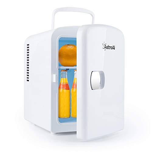 AstroAI 2 in 1 Mini Kühlschrank, 4 Liter mit Kühl- und Heizfunktion 12 Volt am Zigarettenanzünder und 230 Volt Steckdose für Autos, Büros und Schlafsäle