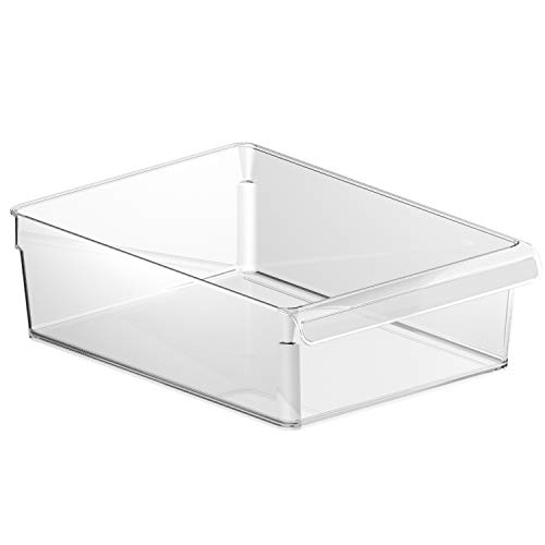 Rotho Loft Kühlschrank Organizer, Kunststoff (SAN), transparent, Gr. L: 5 l (31 x 22 x 9 cm)