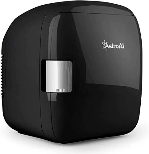 AstroAI 2 in 1 Mini Kühlschrank 9 Liter mit Kühl- und Heizfunktion 12 Volt am Zigarettenanzünder und 230 Volt Steckdose für Autos, Privathaushalte, Büros und Schlafsäle (Schwarz)