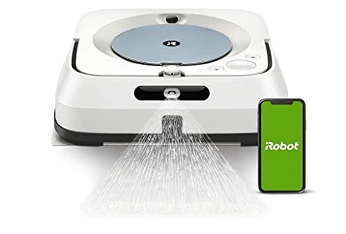 iRobot Braava m6 (m6134) Wischroboter mit WLAN, Präzisions-Sprühstrahl und erweiterter Navigation, Zeitplanreinigung, lernt und passt sich Ihrem Zuhause an, Nass- und Trockenwischen, App-Steuerung