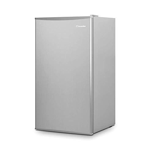 Inventor Mini-Kühlschrank 93L, Energieklasse A ++, Farbe Silber, leise ideal für die Küche, das Schlafzimmer, Studentenzimmer, Hotels und kleine Wohnungen