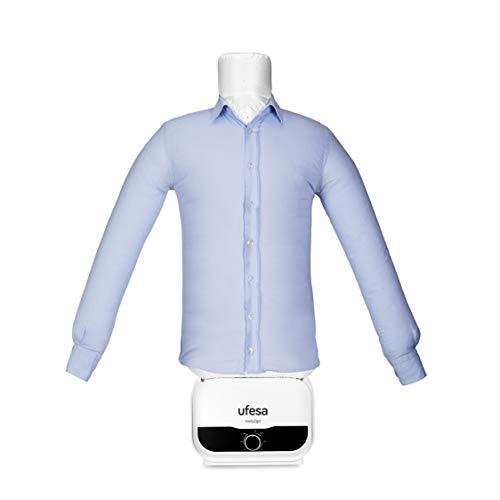 Ufesa SV1200 - Automatischer Hemdenbügler,Bügelpuppe, Bügelautomat, Hemden, Blusen un T-Shirts, Beseitigt Falten und neutralisiert Gerüche, einstellbare Größen,Timer bis zu 3 Std.
