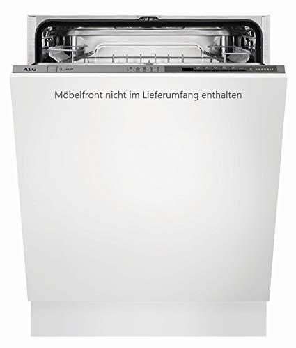 AEG FSS5260AZ Vollintegrierter-Geschirrspüler / 60 cm / AirDry / Energiesparend / Spülmaschine mit Besteckkorb, Beladungserkennung, Glas-, Intensiv- & Kurzprogramm