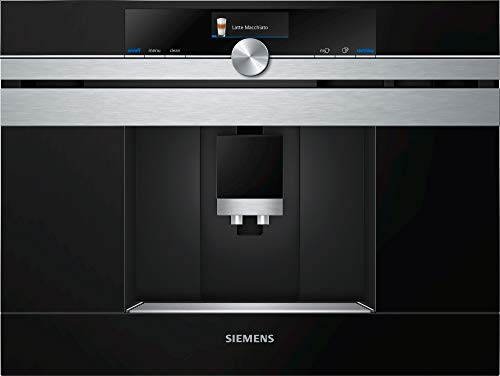 Siemens CT636LES6 Kaffeemaschine, integriert, 19 bar, Schwarz, Edelstahl