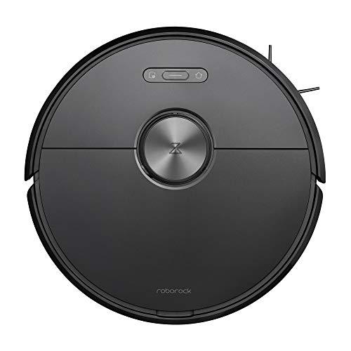 Mi Roborock S6 schwarz, Wischfunktion, Saugleistung 2000Pa, Virtuelle Wände, Steuerung per App, 360° Abdeckung, Intelligente Wegplanung