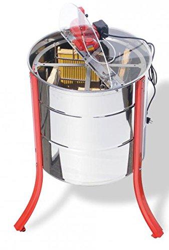 Lega Selbstwendeschleuder mit unten liegenden Motor Schleuderkorb aus Edelstahl mit 4 Taschen für Honigwaben