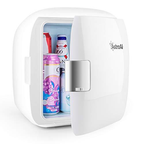 AstroAI 2 in 1 Mini Kühlschrank 9 Liter mit Kühl- und Heizfunktion 12 Volt am Zigarettenanzünder und 230 Volt Steckdose für Autos, Privathaushalte, Büros und Schlafsäle (Weiß)