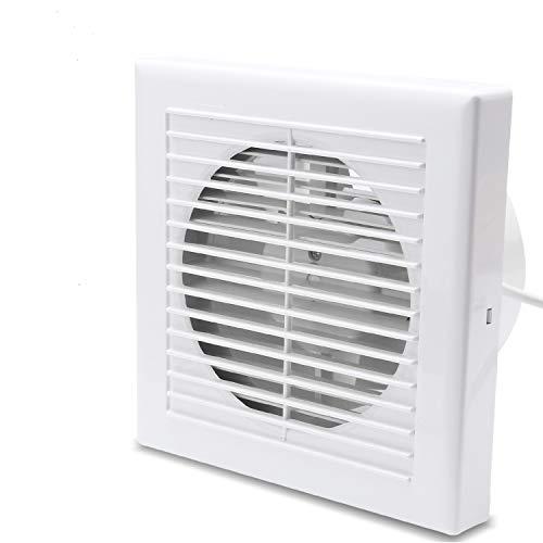 Hengda Ventilator 100 mm Badlüfter mit Rückstauklappe für Bad und Küche Wandventilator, WC, niedrigem Energieverbrauch 12W, leiser Betrieb 35 dB Weiß