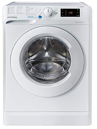 Privileg PWF X 743 N Waschmaschine Frontlader / 7 kg/Push&Go Programm/Startzeitvorwahl/Kurzprogramme/Maschinenreinigung/Inverter Motor/Wasserschutz/Wolle/Kindersicherung