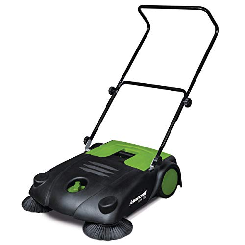 Cleancraft Handkehrmaschine HKM 700 mit zwei Seitenbesen, Arbeitsbreite 70 cm, Kehrgutbehälter 20 l, höhenverstellbar, 7304007