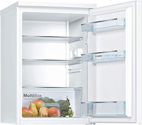 Bosch KTR15NWEA Serie 2 Tischkühlschrank / E / 85 cm / 91 kWh/Jahr / Weiß / 134 L / LED Beleuchtung