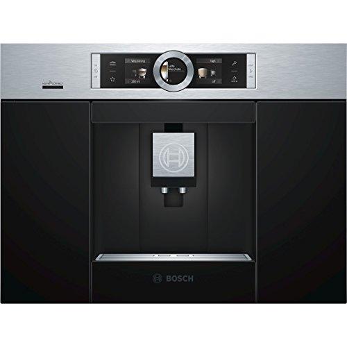 Bosch CTL636ES6 Einbau-Kaffee-Vollautomat / 2,4 Liter / 59.4 cm / Edelstahl / Automilk Clean - vollautomatische Dampf-Reinigung nach jedem Getränk / One-Touch Zubereitung / CeramDrive / HomeConnect