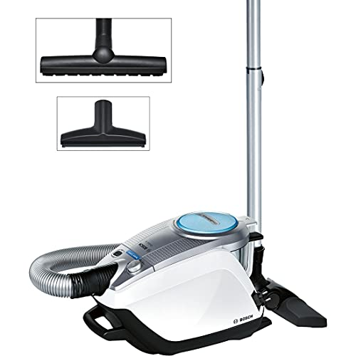Bosch Staubsauger beutellos Relaxx'x ProSilence Plus BGS5331, ideal für Allergiker, Hygiene-Filter, Bodendüse für Parkett, Teppich, Fliesen, langes Kabel, Selbstreinigung, 700 W, silber