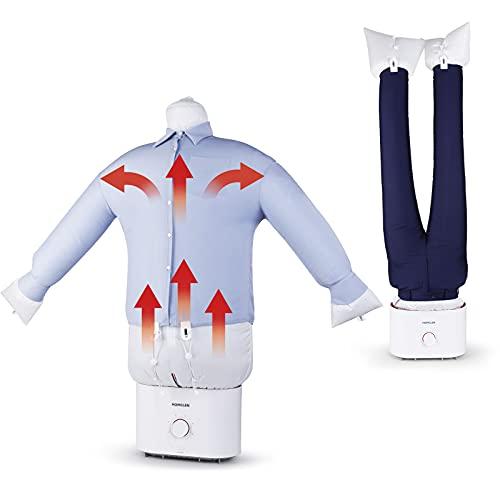 HOMCLEN Automatischer Hemdenbügler, Trocknet und glättet Hemden, Hosen Blusen-Beseitigt Falten und neutralisiert Gerüche, Einstellbare Größen und Zeit,Heißer und kalter Wind