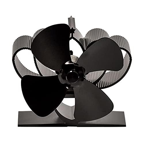Mini-Ofenventilator Kaminventilatoren Schwarze Klinge wärmebetriebener Ofenventilator komin Holzofen Umweltfreundlicher leiser Ventilator Effiziente Wärmeverteilung zu Hause