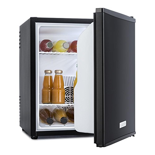 Klarstein MKS-5 - Minibar, Mini-Kühlschrank, Getränkekühlschrank, A, 40 Liter Volumen, 30 dB leiser Betrieb, ca. 43 x 51 x 48 cm (BxHxT), Temperaturregler, matt-schwarzes Gehäuse, schwarz
