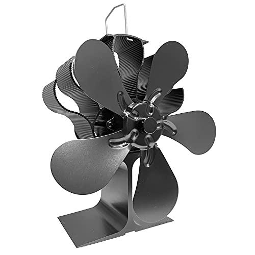 Kaminventilator, Wärmebetriebener Ofenventilator 5 Flügel Holzofen Lüfter Kaminlüfter Für Holz/Holzofen/Kamin-umweltfreundlich