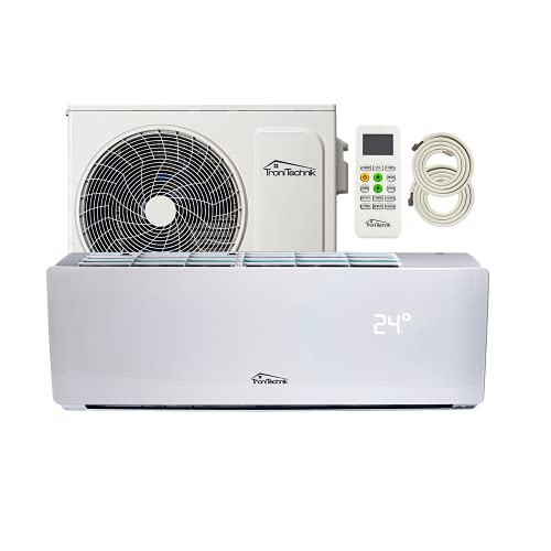 Tronitechnik Reykir Split Klimaanlage Inverter Splitgerät mit UVC Luftsterilisation, Kühlung Heizung Ventilation Entfeuchtung, Fernbedienung, WiFi App-Steuerung (9000 BTU)