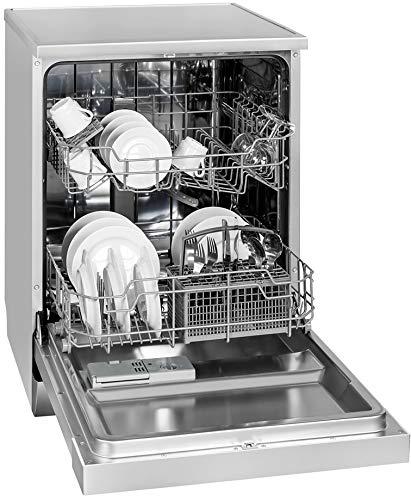 Exquisit Geschirrspüler GSP 9112.1 si | Standgerät, Unterbaugerät | 12 Maßgedecke | Silber