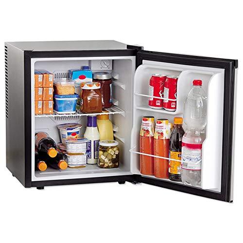 Bakaji Frigo Bar Mini-Kühlschrank mit 4 Fächern, Kapazität 36 l, Hotel, Büro, Studio, Camping, Größe 43 x 41 x 51 cm, Farbe Schwarz und Silberfarben
