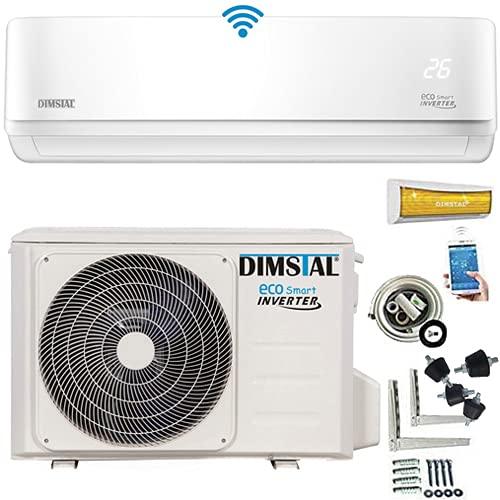 INVERTER Split Klimaanlage Splitgerät Klimagerät ECO Smart WLAN/WiFi Alexa 3,5kW 12000 BTU komplett Set leise Smart Home R32 inkl. 3m Kupferleitungen Montagematerial & Heizfunktion (3,5 kW/12000btu)