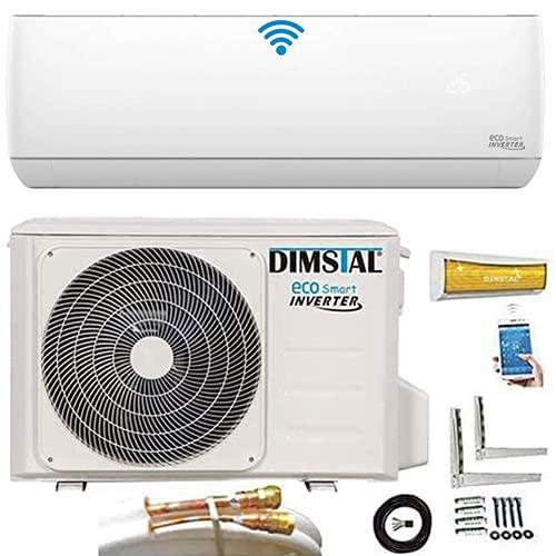 Quick-Connect INVERTER 3,5kW 12000 BTU sehr Leise Split Klimaanlage mit Selbstreinigung Klimagerät ECO Smart WiFi/WLAN komplett Set inkl. 4m Kupferleitungen mit Heizfunktion